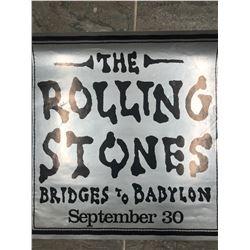 "THE ROLLING STONES ""BRIDGES TO BABYLON"" OFFICIAL TOUR POSTER"