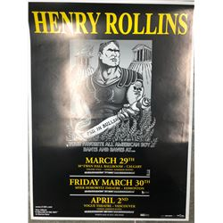 OFFICIAL HENRY ROLLINS CANADIAN TOUR CONCERT POSTER