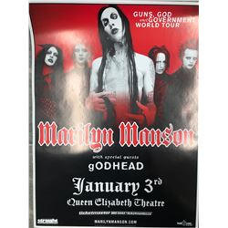 OFFICIAL MARILYN MANSON CONCERT POSTER (VANCOUVER BC)