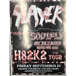 OFFICIAL SLAYER CONCERT POSTER (VANCOUVER BC)