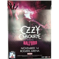OFFICIAL OZZY OSBOURNE W/ SPECIAL GUEST HALFORD CONCERT POSTER