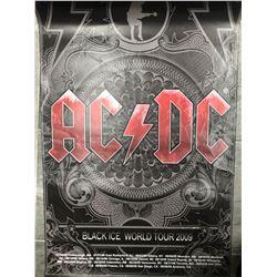"2009 ""BLACK ICE WORLD TOUR"" OFFICIAL AC/DC CONCERT POSTER"