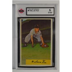 1954 Bowman #6 Nellie Fox
