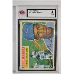 1956 Topps #15 Ernie Banks DP