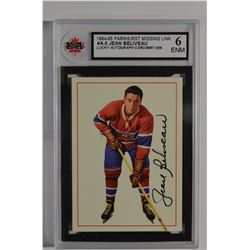 1994 Parkhurst Missing Link Autographs #5 Jean Beliveau