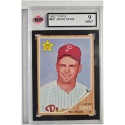 1962 Topps #521 Jacke Davis UER RC