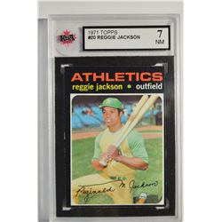 1971 Topps #20 Reggie Jackson