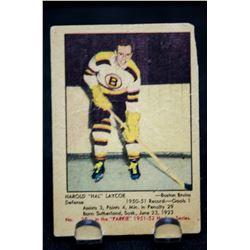 1951-52 Parkhurst #25 Hal Laycoe RC