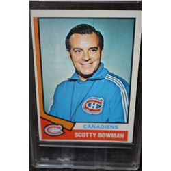 1974-75 O-Pee-Chee #261 Scotty Bowman CO RC