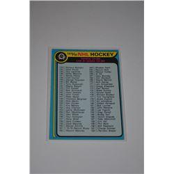 1979-80 O-Pee-Chee #237 Checklist 133-264 UER