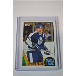 1987-88 Topps #12 Wendel Clark DP