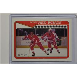 1990-91 Topps Tiffany #133 Red Wings Team/Steve Yzerman