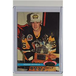 1991 Stadium Club Members Only #48 Mario Lemieux/Lemieux Takes 3rd/Ross Trophy