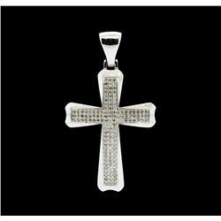 0.75 ctw Diamond Pendant - 10KT White Gold
