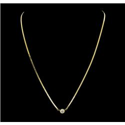 0.50 ctw Diamond Necklace - 14KT Yellow Gold