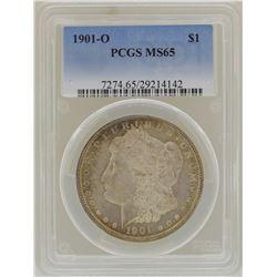 1901-O $1 Morgan Silver Dollar Coin PCGS MS65