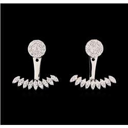 0.58 ctw Diamond Earrings - 14KT White Gold