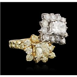 18KT Two-Tone Gold 3.55 ctw Diamond Ring
