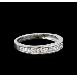 0.62 ctw Diamond Band - 14KT White Gold