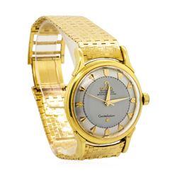 Omega Men's Constellation Wristwatch - 18KT Yellow Gold