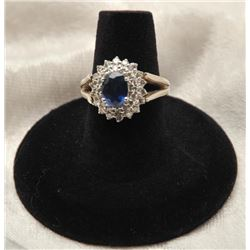 19RPS-19 SAPPHIRE  DIAMOND RING