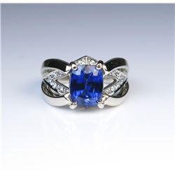 19CAI-42 SAPPHIRE  DIAMOND RING