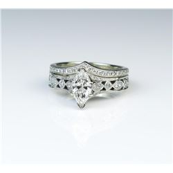 19CAI-61 ENGAGEMENT  WEDDING RINGS
