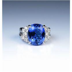 19CAI-4 TANZANITE  DIAMOND RING