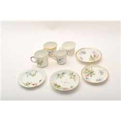 19RPS-1 ENGLISH CHINA TEA CUPS  SAUCERS