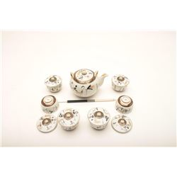 19AI-6 JAPANESE TEA POT,CUPS  LIDS