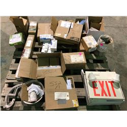 New cat & JD parts, new Eaton Electrical GFR & Gfi, emergency light, etc.