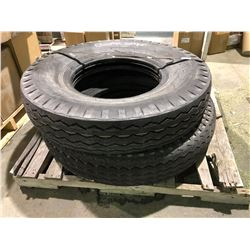 2 YKS 10x2 nylon tube type steering tires 12 ply rating unused