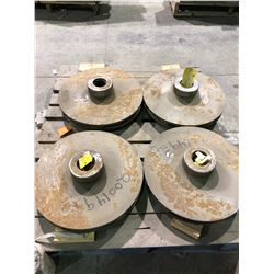 "Pallet of 4 unused pump impellors, approx 18"" diameter"