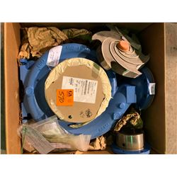Pallet of Gould pump replacement parts including housing, impeller, casing, etc. orig value $26,964.