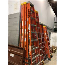 10' fiberglass stepladder - orange