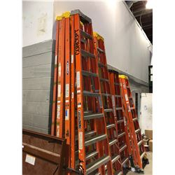 10' Werner fibreglass stepladder - orange