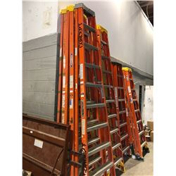 10' Louisville fibreglass stepladder - orange