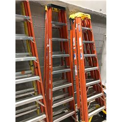 "8"" Werner fibreglass stepladder - orange"