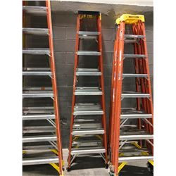 8' Sturdy fibreglass stepladder - orange