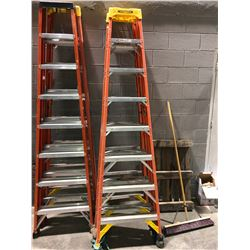 8' Werner fibreglass stepladder - orange