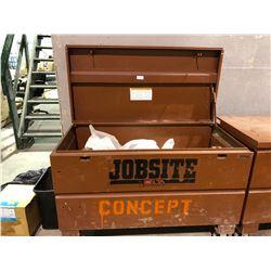 Jobsite mobile locking toolbox