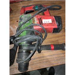 Milwaukee hammer drill (no battery), Milwaukee electric jack hammer, Milwaukee Hammer vac battery