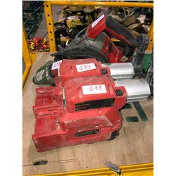 Milwaukee Hammer Vac batteries, Milwaukee rechargeable drill (no batt), Milwaukee 40mm SDS Max rotar