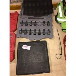 Misc. tools, 2 Jobmate socket sets, Milwaukee hole saw bits