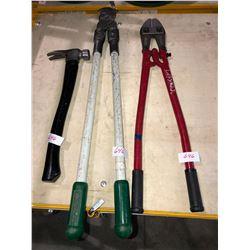 Milwaukee HD Bolt Cutter, Greenlee HD Bolt Cutter & hammer