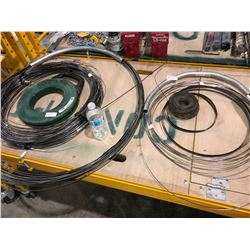 Greenlee 240 ft fish tape, electrical boxes, wire