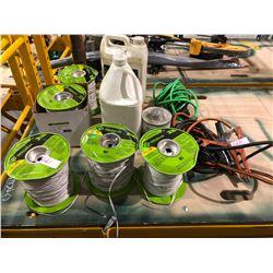Greenlee rolls of conduit measuring tape (5 rolls) plus hydraulic fluid
