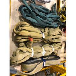 5 sets of lifting straps, crane cables vertical 9000lb capacity