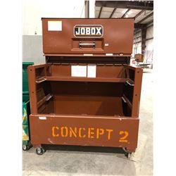 Jobox extra large mobile tool lockbox hydraulic door