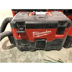 2 Milwaukee suitcase vacuums, rechargeable one with battery